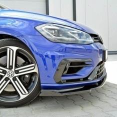 MAXTON DESIGN – BLACK GLOSS FRONT SPLITTER V.1 VW GOLF VII R (FACELIFT)