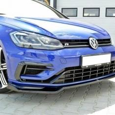 MAXTON DESIGN – BLACK GLOSS FRONT SPLITTER V.2 VW GOLF VII R (FACELIFT)