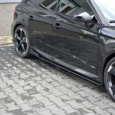 MAXTON DESIGN – BLACK GLOSS RACING SIDE SKIRTS DIFFUSERS V.2 AUDI AUDI RS3 8V FL SPORTBACK