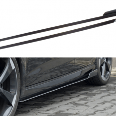 MAXTON DESIGN – BLACK GLOSS RACING SIDE SKIRTS DIFFUSERS V.2 AUDI AUDI RS3 8V FL SPORTBACK