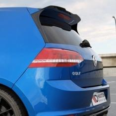 MAXTON DESIGN – BLACK GLOSS SPOILER EXTENSION VW GOLF MK7 R GTI